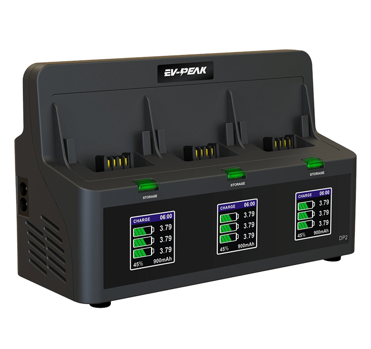 ev-peak dp2 3 channel intelligent bebop 2 drone battery charger 2