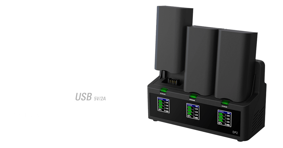 ev-peak dp2 3 channel intelligent bebop 2 drone battery charger banner