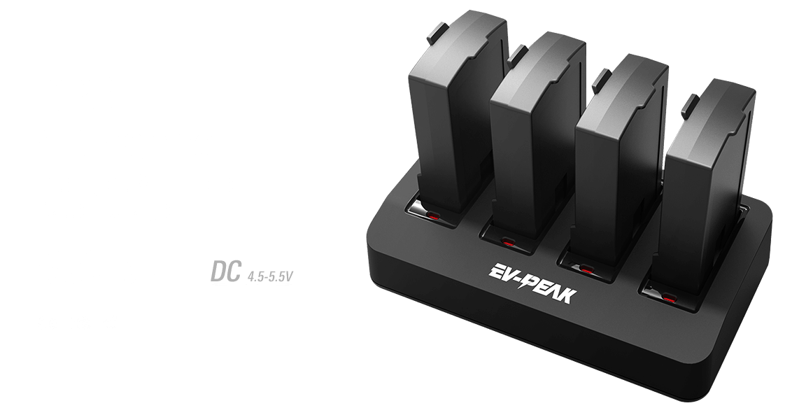 ev-peak dp3 4 channel intelligent mini drone battery charger banner
