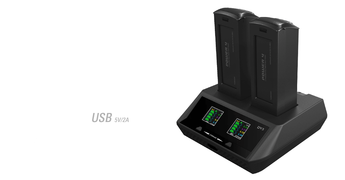 ev-peak dy3 2 channel intelligent typhoon h drone battery charger banner