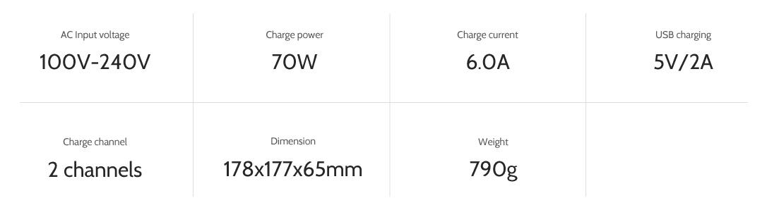 ev-peak dy3 2 channel intelligent typhoon h drone battery charger specifications
