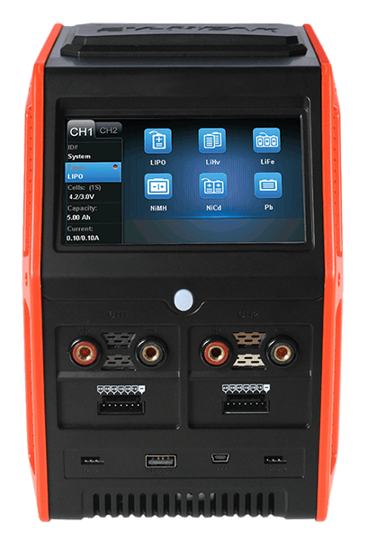 ev-peak sd1 500w 30a dual channel smart touch balance charger