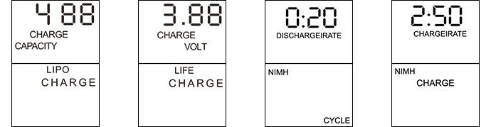 ev-peak cq1-xr 2.5a rc balance charger quad charger lcd icon